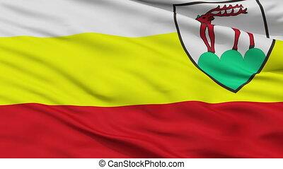 Closeup Jelenia Gora city flag, Poland - Jelenia Gora...