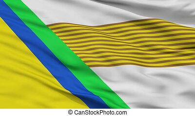 Closeup Jesus Maria city flag, Colombia - Jesus Maria...