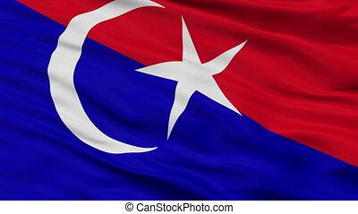 Closeup Johor Bahru Johor city flag, Malaysia - Johor Bahru...