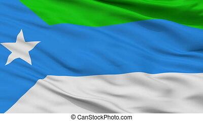 Closeup Jubaland city flag, Somalia