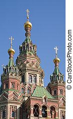 closeup, közül, orthodox templom