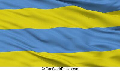 Closeup Kallaste city flag, Estonia - Kallaste closeup flag,...