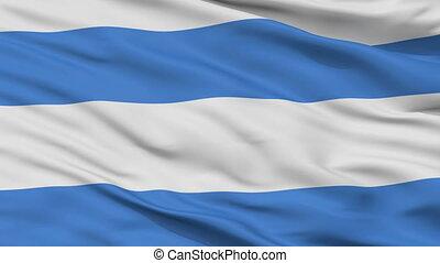 Closeup Kardla city flag, Estonia - Kardla closeup flag,...