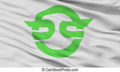 Closeup Kasai city flag, prefecture flag, Japan - Kasai ...