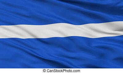 Closeup Keila city flag, Estonia - Keila closeup flag, city...