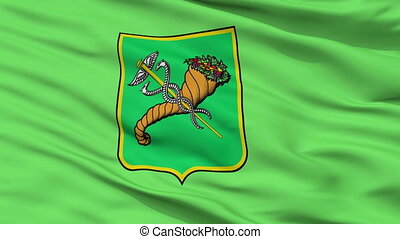 Closeup Kharkiv town city flag, Ukraine - Kharkiv town...
