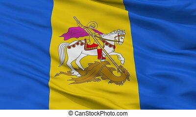 Closeup Kiev Oblast flag, Ukraine - Kiev Oblast closeup...