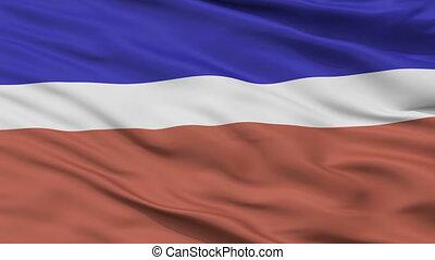 Closeup Kivioli city flag, Estonia - Kivioli closeup flag,...