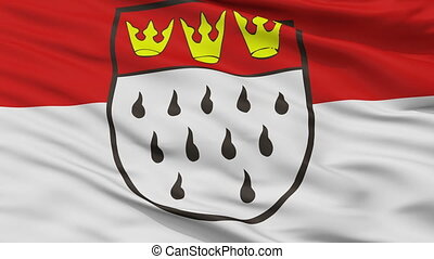 Closeup Koeln city flag, Germany - Koeln closeup flag, city...