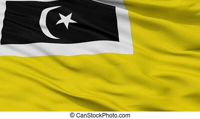 Closeup Kuala Terengganu city flag, Malaysia - Kuala...