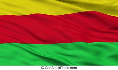 Closeup La Ceja city flag, Colombia - La Ceja closeup flag,...