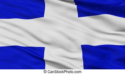 Closeup La Libertad Department city flag, El Salvador - La...