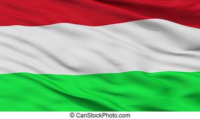Closeup La Mesa city flag, Colombia - La Mesa closeup flag,...