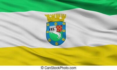 Closeup La Pintana city flag, Chile - La Pintana closeup...