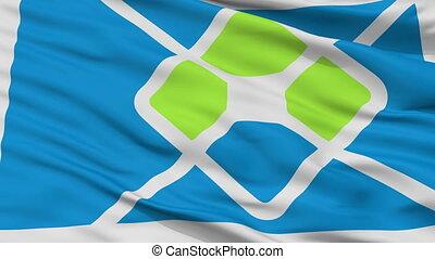 Closeup La Plata city flag, Argentina - La Plata closeup...
