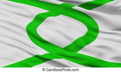 Closeup La Union city flag, Chile - La Union closeup flag,...