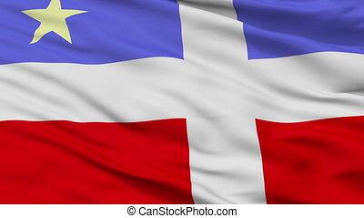 Closeup Lares city flag, Puerto Rico - Lares closeup flag,...