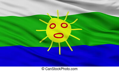 Closeup Las Piedras city flag, Puerto Rico - Las Piedras ...