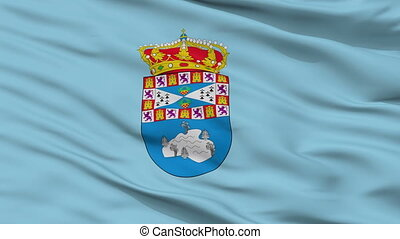 Closeup Leganes city flag, Spain - Leganes closeup flag,...