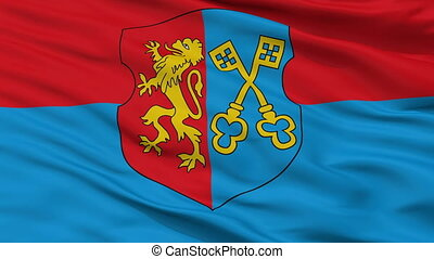 Closeup Lida city flag, Belarus - Lida closeup flag, city of...