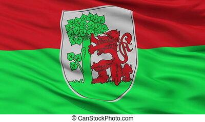 Closeup Liepaja city flag, Latvia - Liepaja closeup flag,...