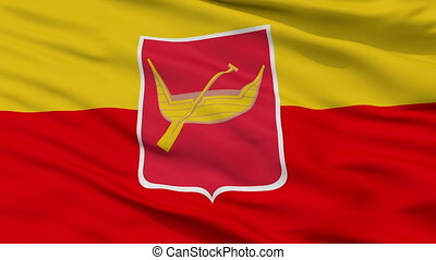Closeup lodz city flag, Poland - lodz closeup flag, city of...