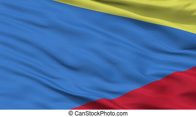 Closeup lomza city flag, Poland - lomza closeup flag, city...