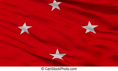 Closeup Londrina city flag, Brasil - Londrina closeup flag,...