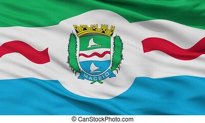 Closeup Maceio city flag, Brasil - Maceio closeup flag, city...