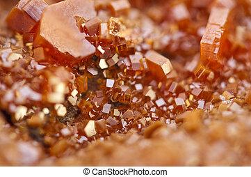 closeup, macro., extrem, kristalle, vanadinite.