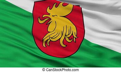 Closeup Madona city flag, Latvia - Madona closeup flag, city...
