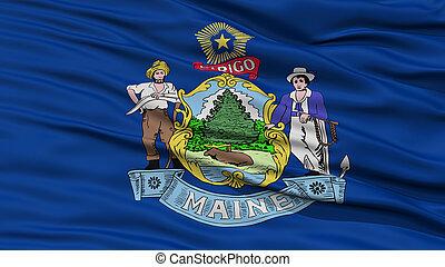Closeup Maine Flag, USA state