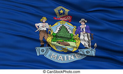 Closeup Maine Flag, USA state