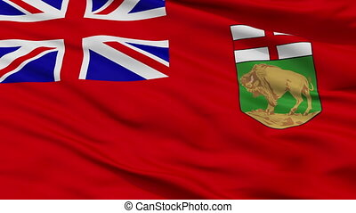 Closeup Manitoba city flag, Canada - Manitoba closeup flag,...