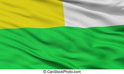 Closeup Maria La Baja city flag, Colombia