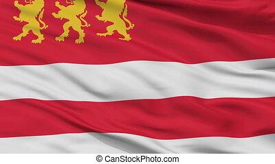 Closeup Marneuli Municipality flag, Georgia