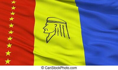 Closeup Maturin city flag, Venezuela - Maturin closeup flag,...