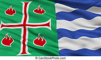 Closeup Mayaguez city flag, Puerto Rico - Mayaguez closeup...