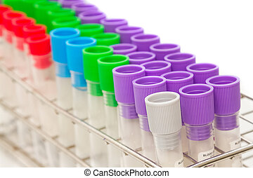 closeup, medizin, blut, rohr, reagenzglas, für, laboratorium