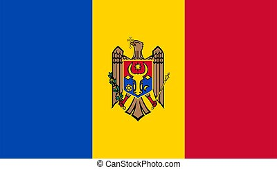 closeup, mołdowa bandera