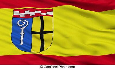Closeup Monchengladbach city flag, Germany - Monchengladbach...