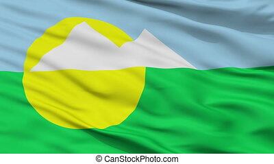 Closeup Montes Claros city flag, Brasil - Montes Claros...