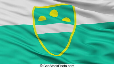Closeup MS city flag, Slovenia - MS closeup flag, city of ...