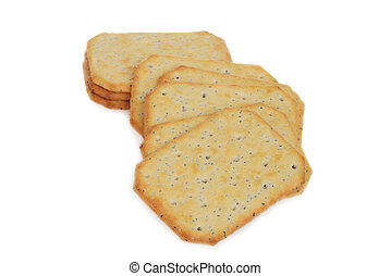 closeup multi grain crackers