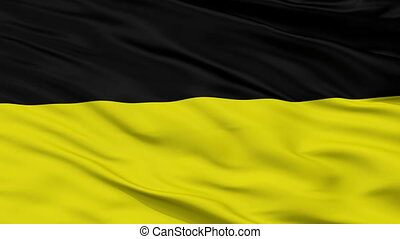 Closeup Munich city flag, Grenada