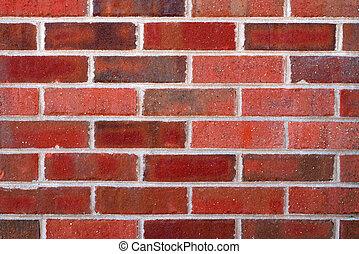 closeup, muur, baksteen