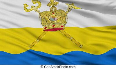 Closeup Mykolaiv Oblast flag, Ukraine - Mykolaiv Oblast...