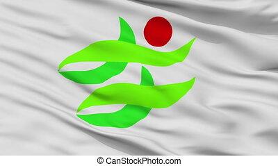 Closeup Nantan city flag, prefecture Kyoto, Japan - Nantan ...