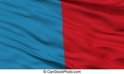 Closeup Narbona city flag, France - Narbona closeup flag,...