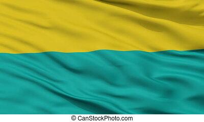 Closeup Narva city flag, Estonia - Narva closeup flag, city...